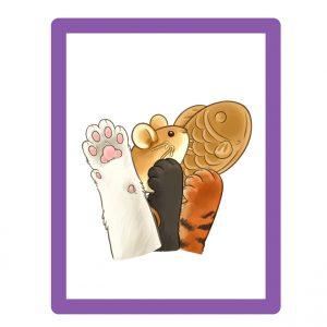 Comprar marcapáginas patas de gato